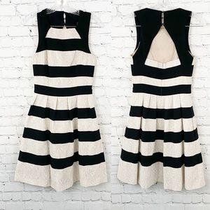 Karen Millen Striped Lace  Sleeveless Dress, SZ4